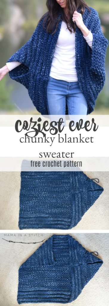 Cozy Blanket Cardigan – Mama In A Stitch