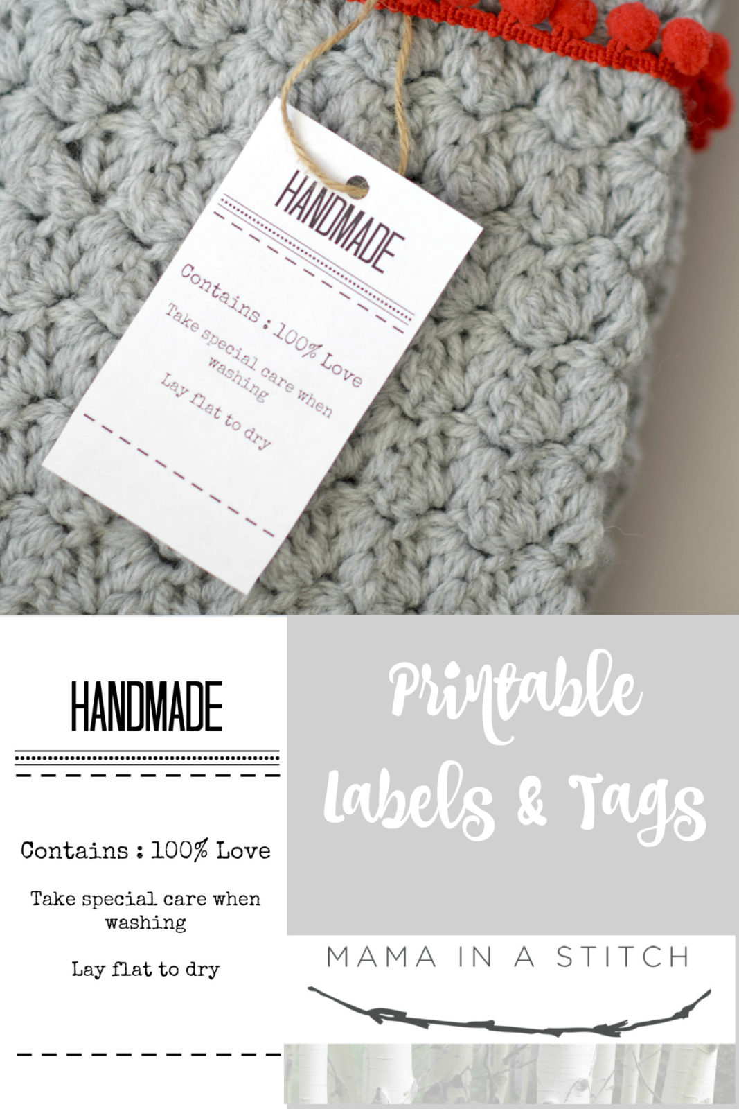 Gift Labels And Tags For Handmade Items Mama In A Stitch
