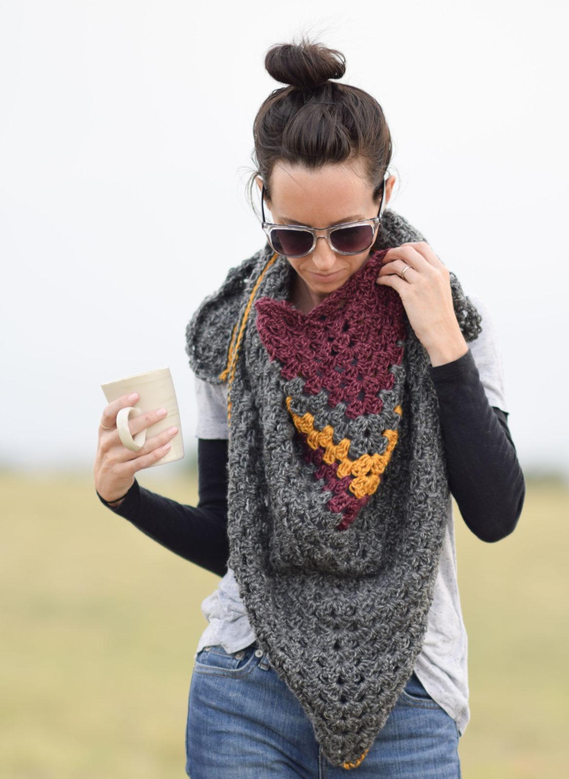 Smoky Mountains Crochet Triangle Wrap – Mama In A Stitch