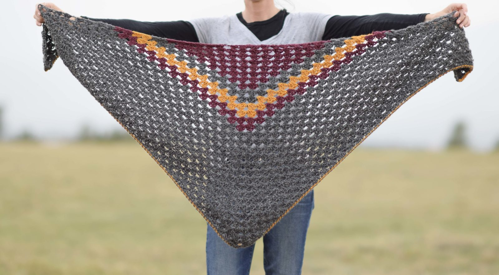 Smoky Mountains Crochet Triangle Wrap Mama In A Stitch