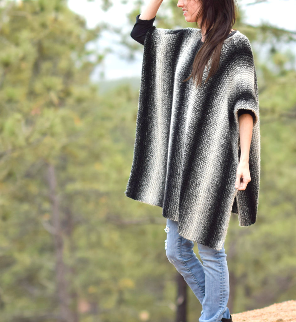 Knitting Poncho With Two Rectangles : Aspen relaxed knit poncho pattern mama in a stitch