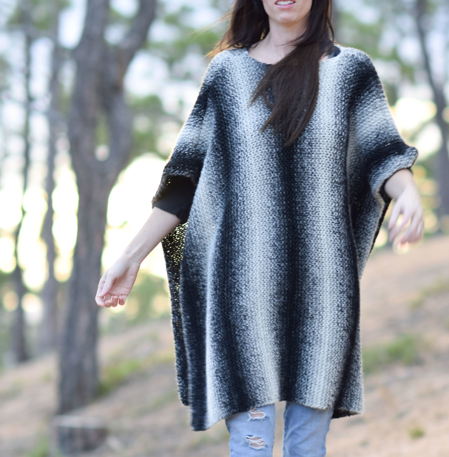 Aspen relaxed knit poncho pattern mama in a stitch todays knitting pattern is here thanks to several requests from you for a knit version of the crocheted driftwood oversized hooded poncho that i shared bankloansurffo Image collections