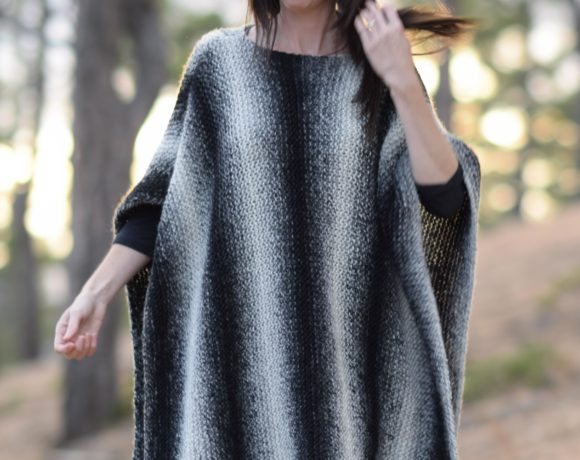 Aspen Relaxed Knit Poncho Pattern