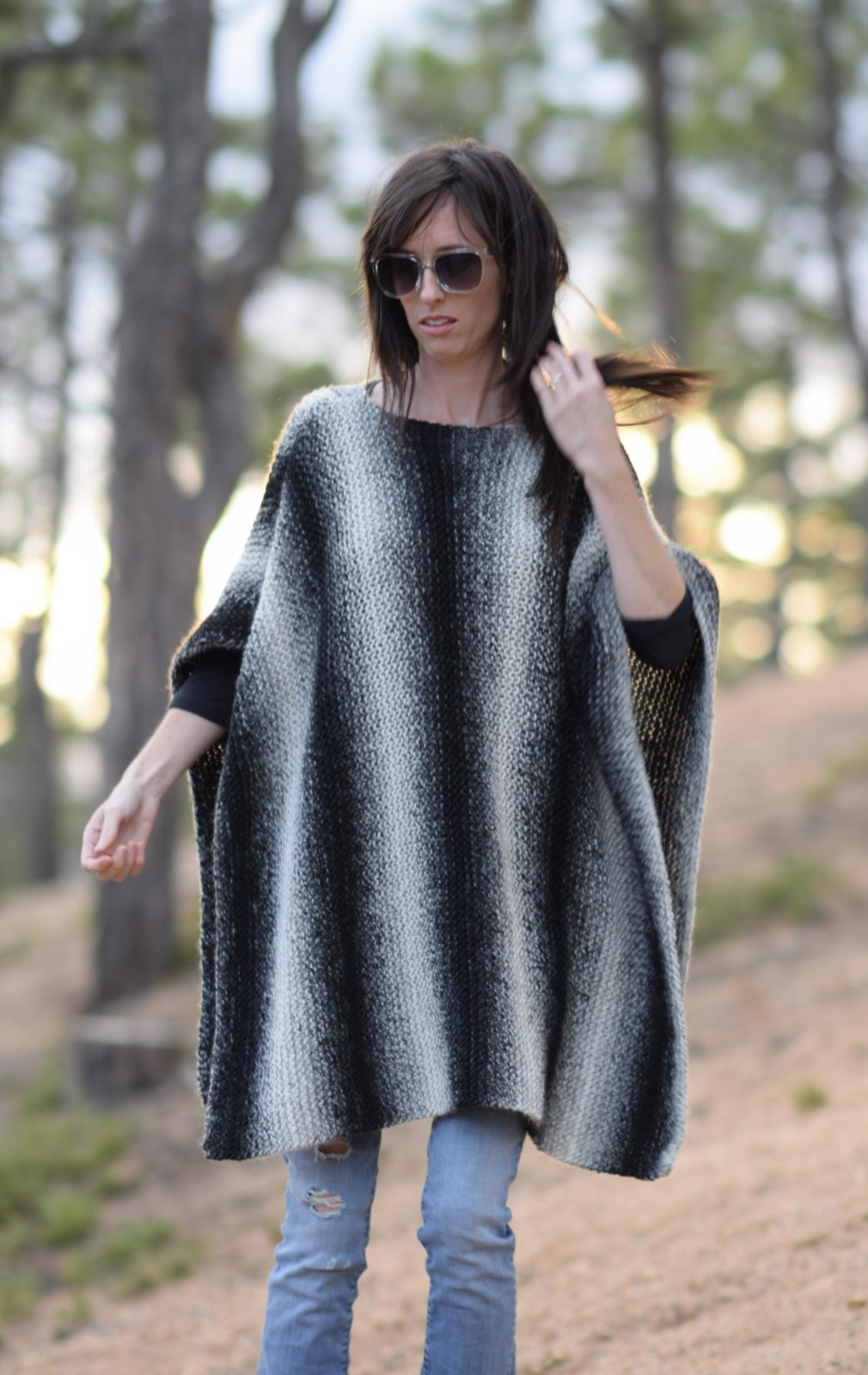 Aspen Relaxed Knit Poncho Pattern – Mama In A Stitch