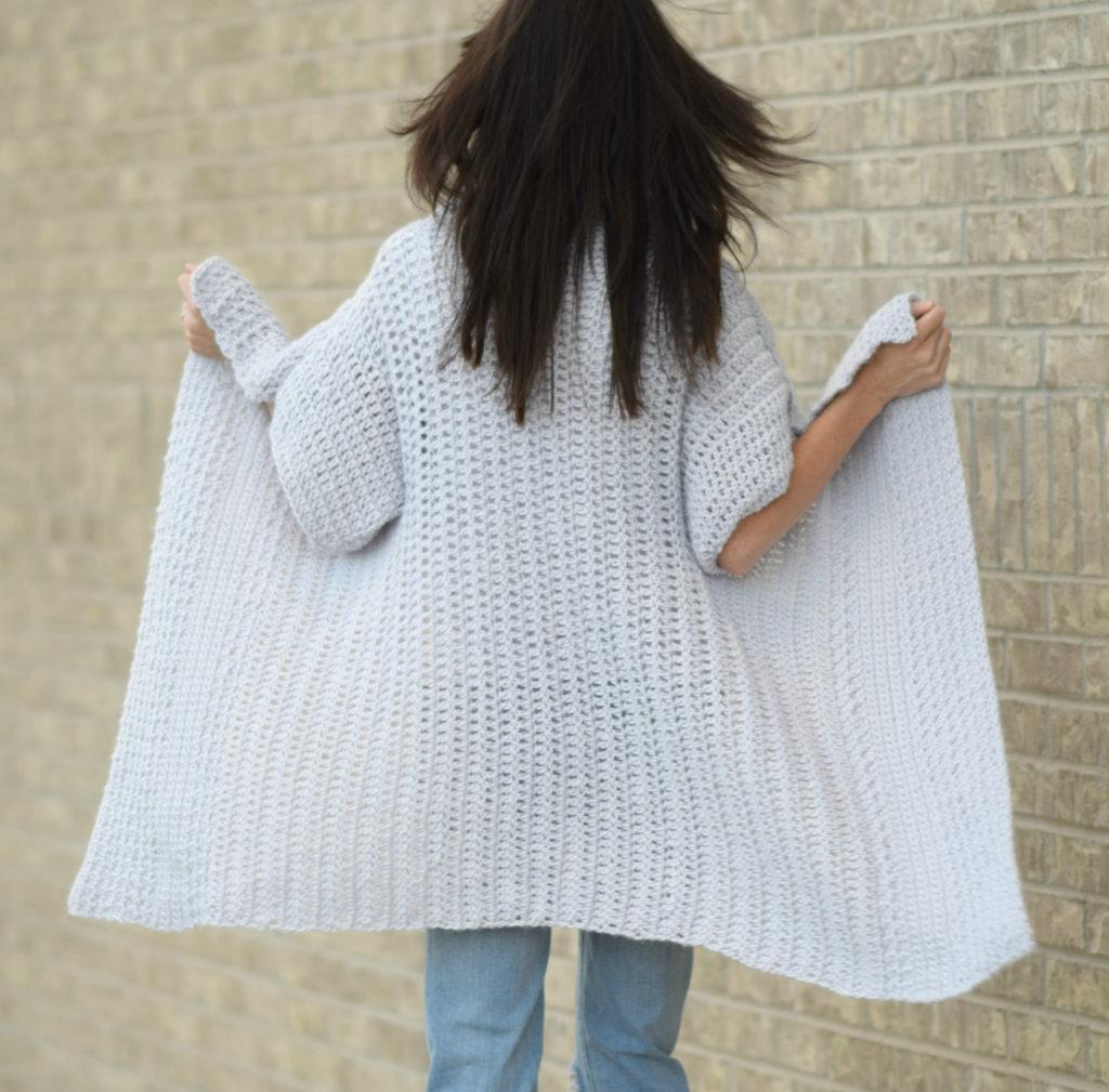 Cascading Kimono Cardigan Crochet Pattern – Mama In A Stitch