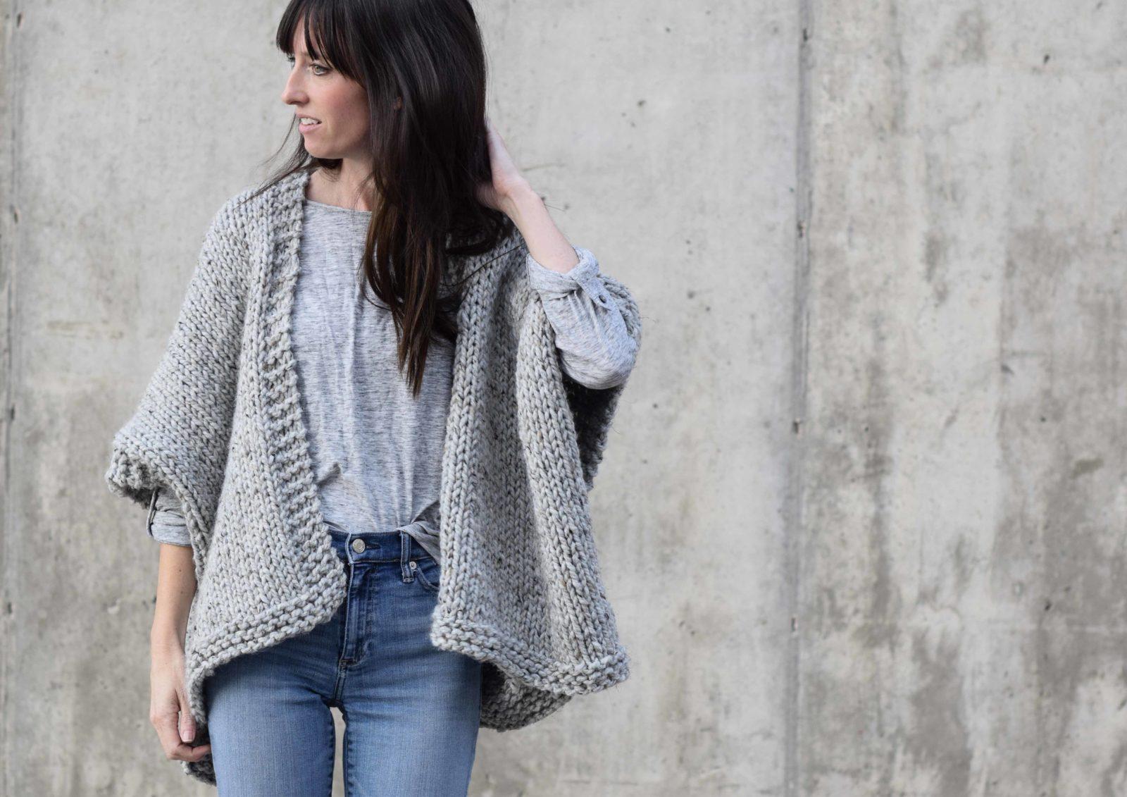 Telluride Easy Knit Kimono Pattern - Mama In A Stitch