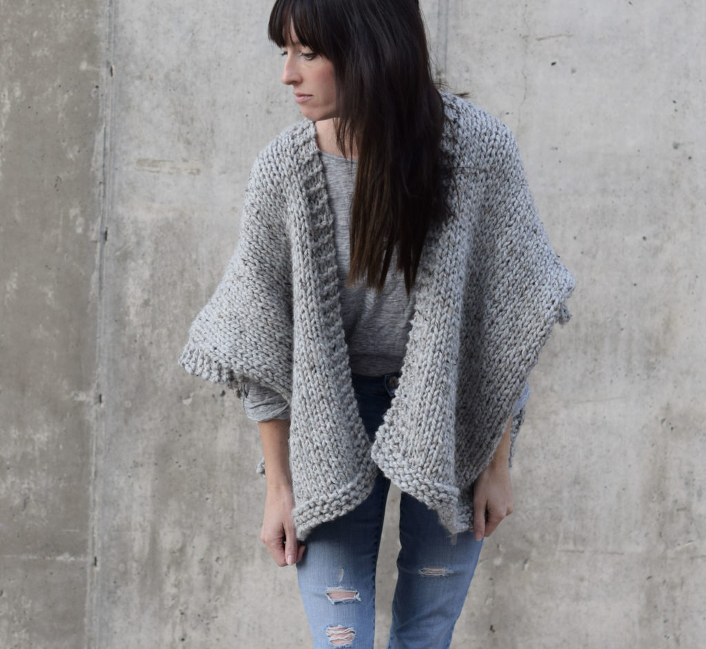Sleeve free pattern easy beginners cardigan knit for flipkart
