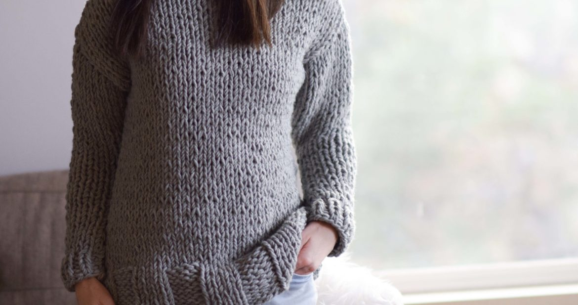 Winters Chunky Easy Knit Pullover Pattern – Mama In A Stitch
