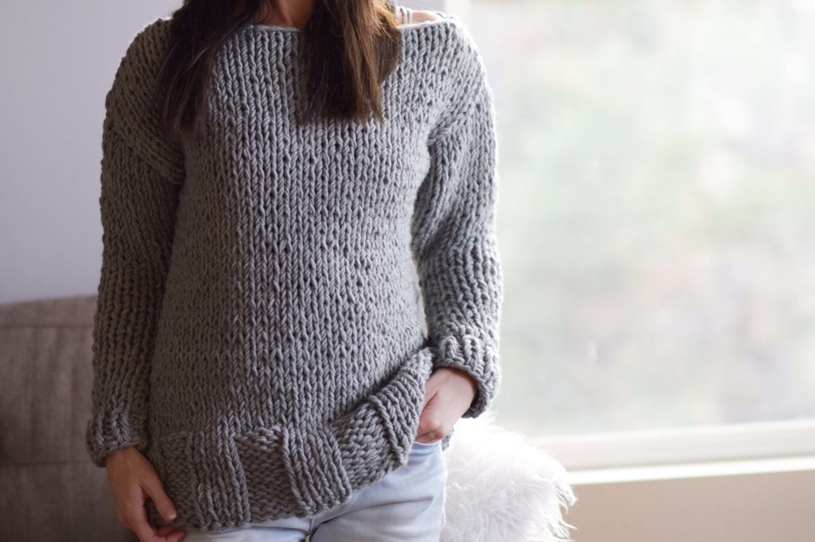 cd8f9972b31a1 Winters Chunky Easy Knit Pullover Pattern – Mama In A Stitch