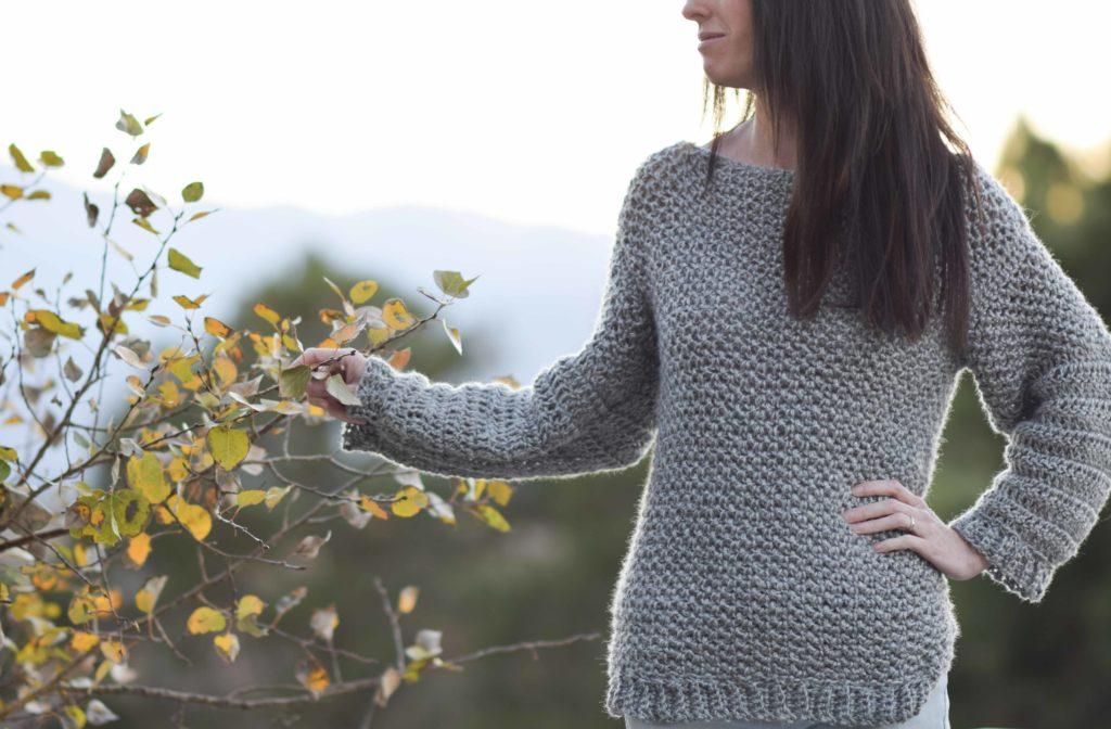 How To Make An Easy Crocheted Sweater (Knit-Like)