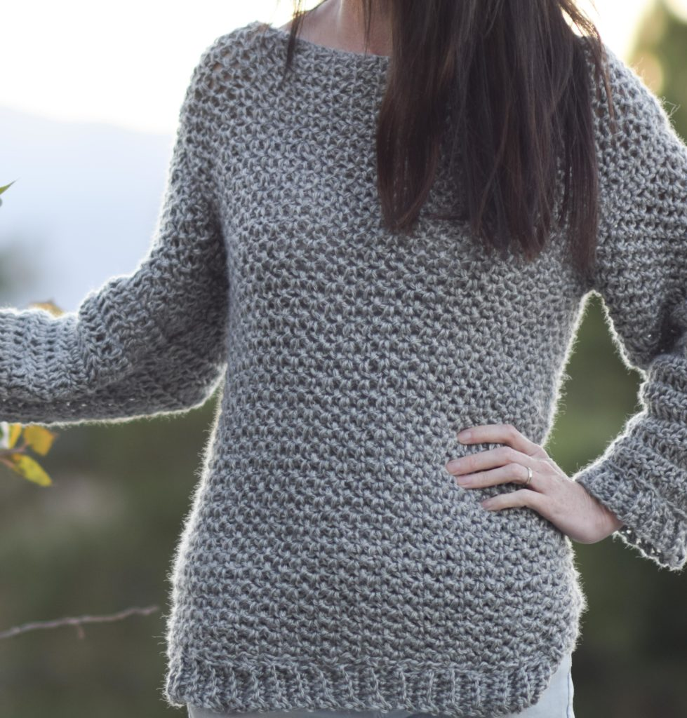 Knitting In The Round Sweater Patterns : How to make an easy crocheted sweater knit like mama
