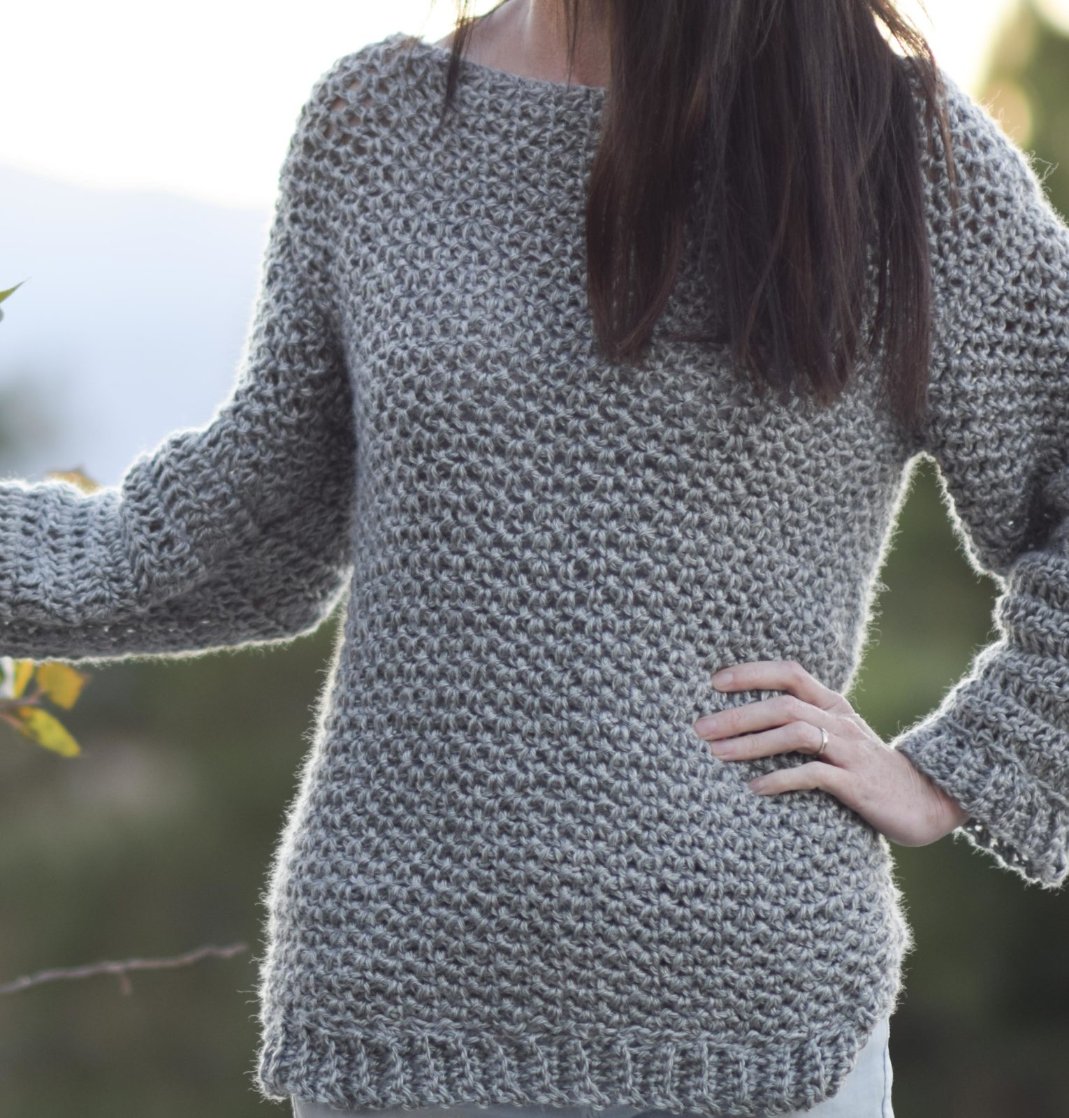 How To Make An Easy Crocheted Sweater (Knit-Like) – Mama ...