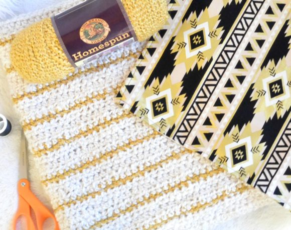 How To Line Knit Projects and Crochet