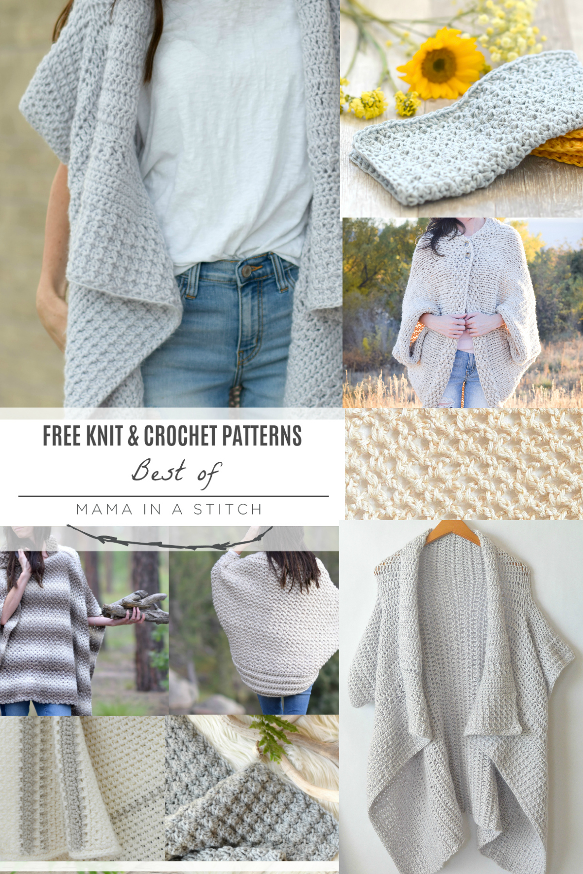 Top Knit and Crochet Patterns – Mama In A Stitch