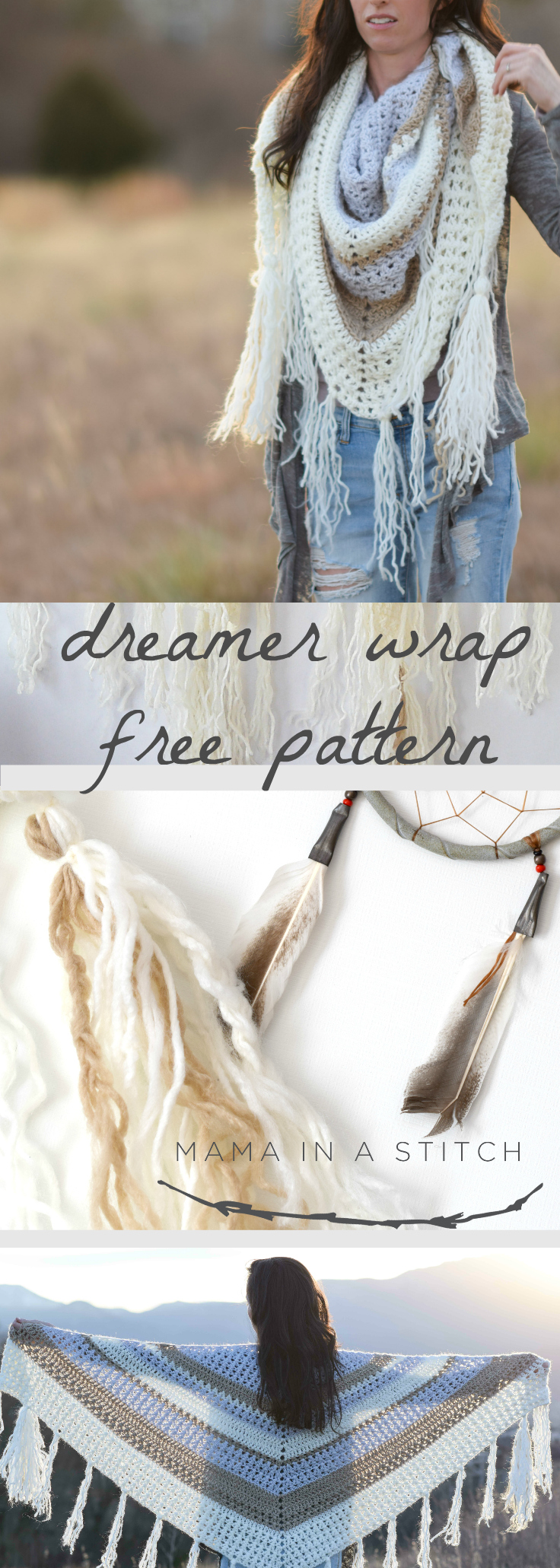 The Dreamer Crocheted Triangle Wrap Pattern – Mama In A Stitch