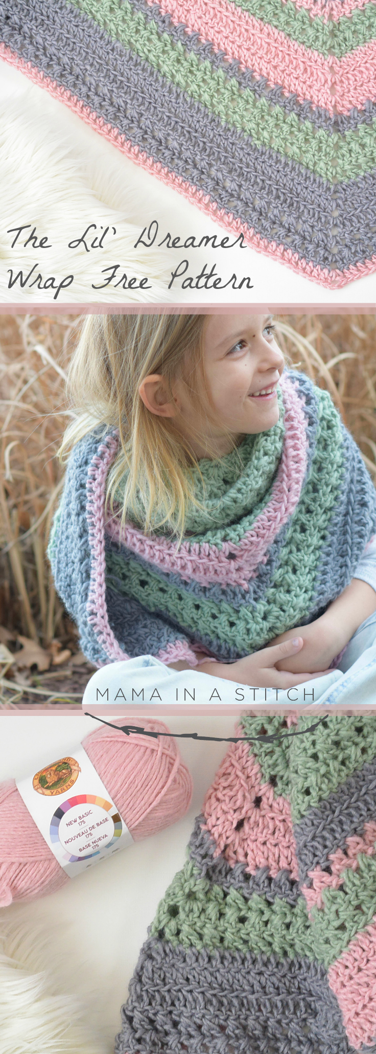 Lil Dreamer Scarf Crochet Pattern Mama In A Stitch