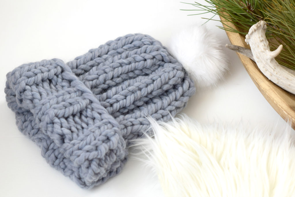 Quick Chunky Knit Hat Pattern - Mama In A Stitch