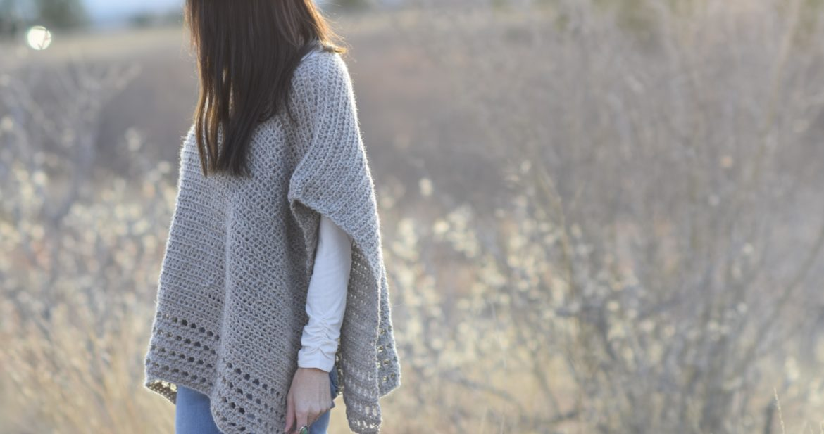 Light Alpaca Poncho Crochet Pattern Mama In A Stitch