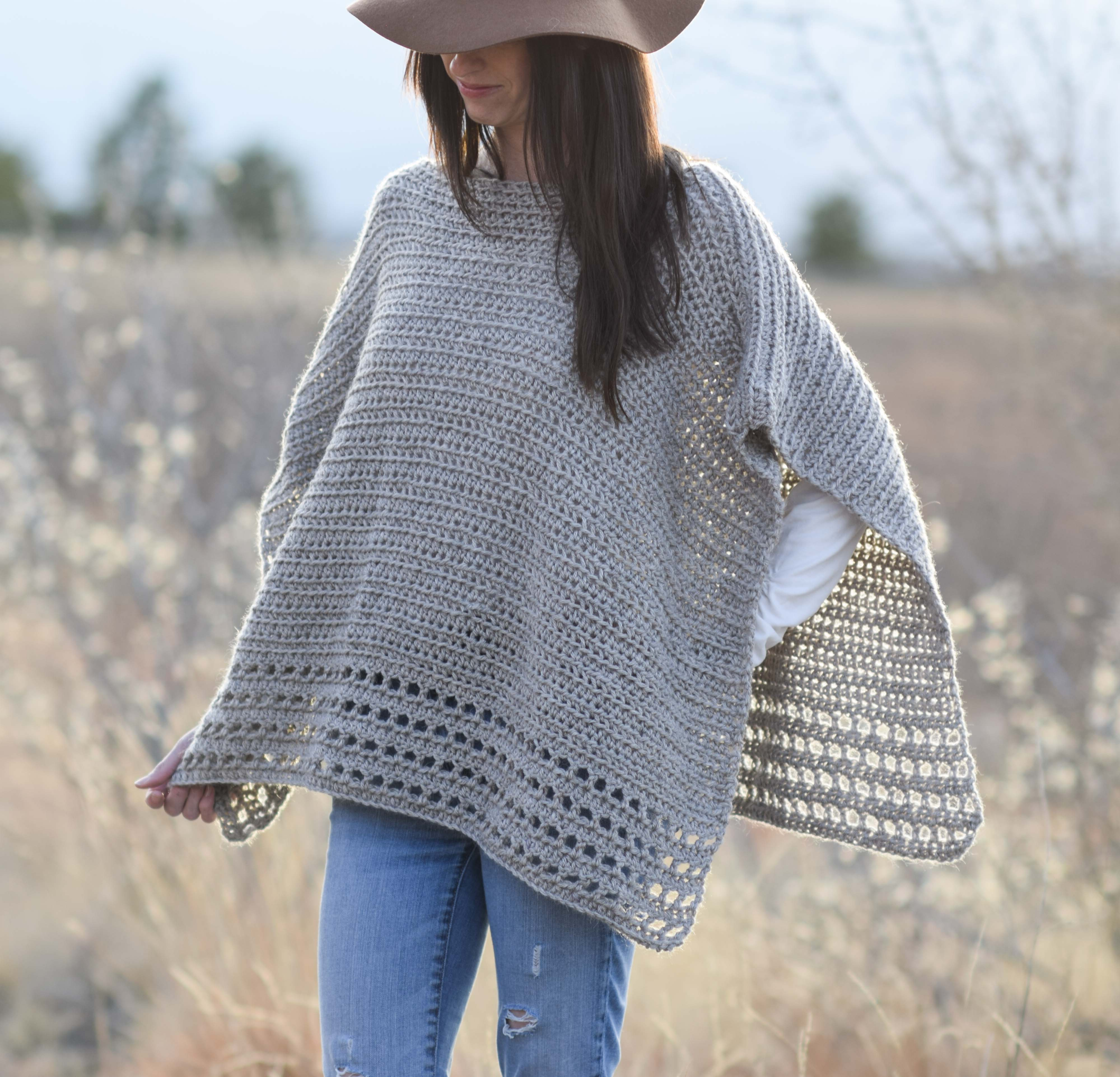Light Alpaca Poncho Crochet Pattern – Mama In A Stitch