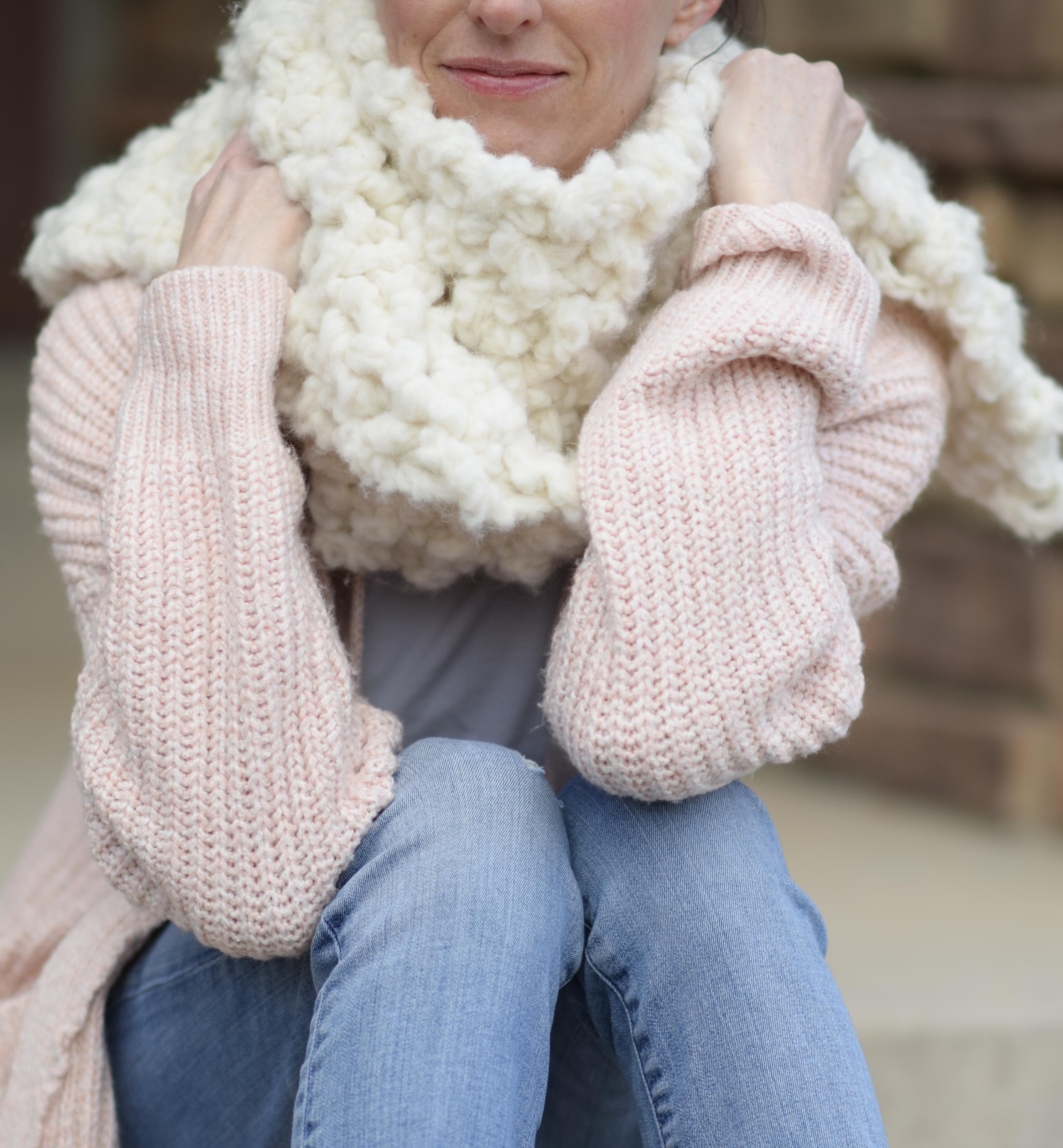 Big Luxurious Alpaca Knit Scarf Pattern – Mama In A Stitch