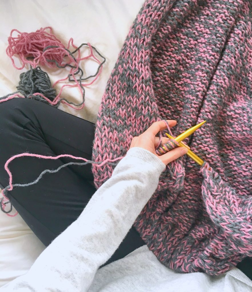 Knitting With Two Colors At The Same Time : Easy relaxed marled cardigan knitting pattern mama in a