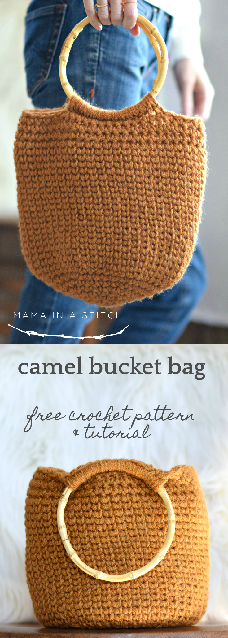 Camel Bucket Bag - Crocheted Bag Pattern – Mama In A Stitch
