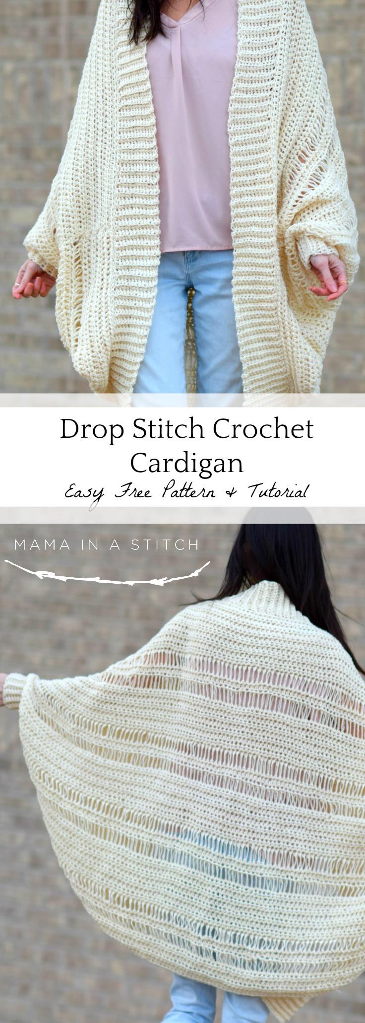 Pretty Drop Stitch Cardigan Beginner Crochet Sweater Mama In A Stitch