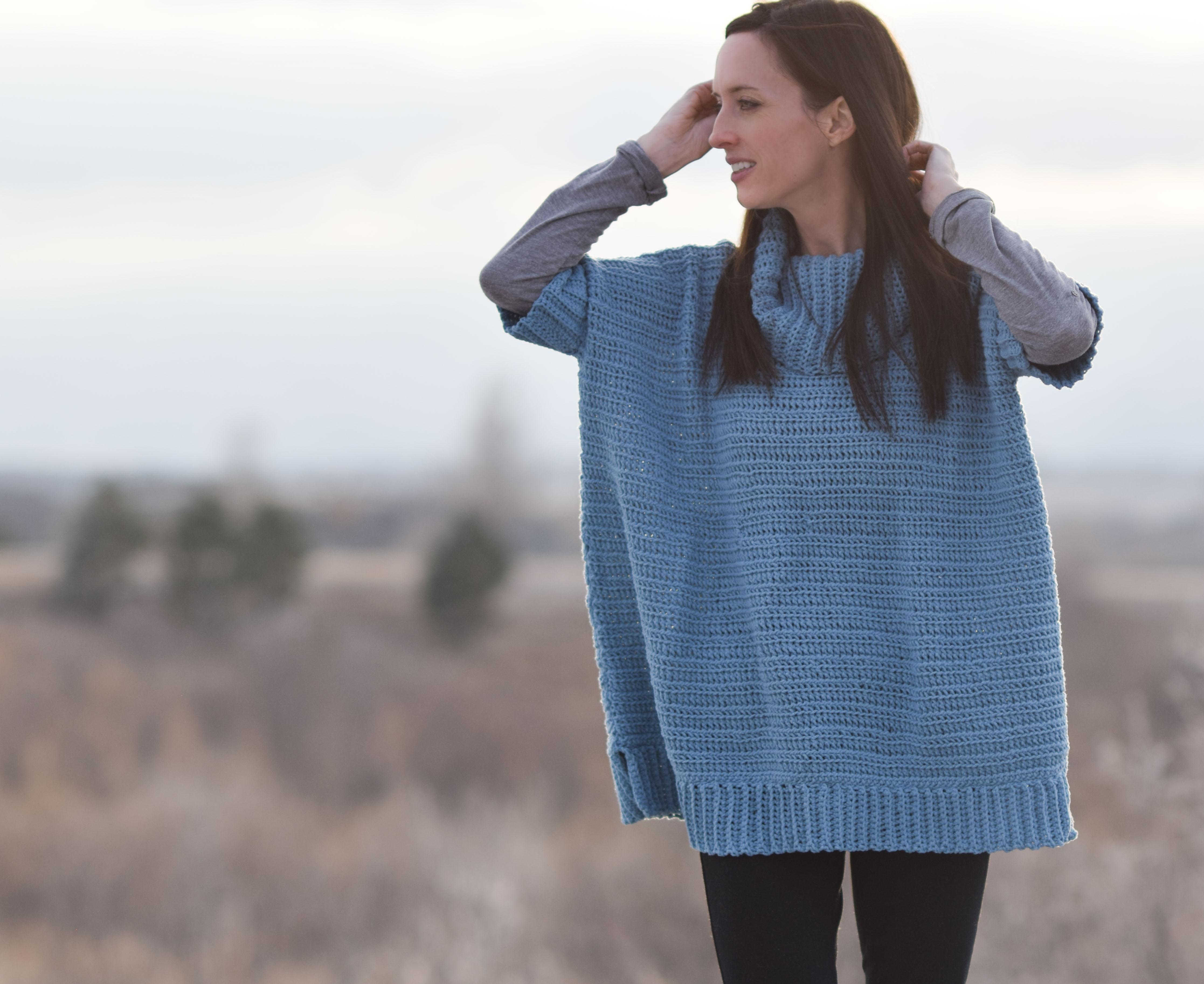 b35817a743e7c9 Softest Lounge Around Pullover Crochet Pattern – Mama In A Stitch