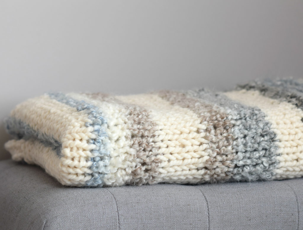 Cuddly Quick Knit Throw Blanket Pattern - Mama In A Stitch