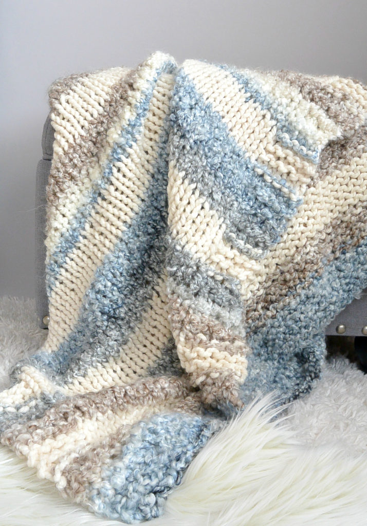cuddly quick knit throw blanket pattern � mama in a stitch