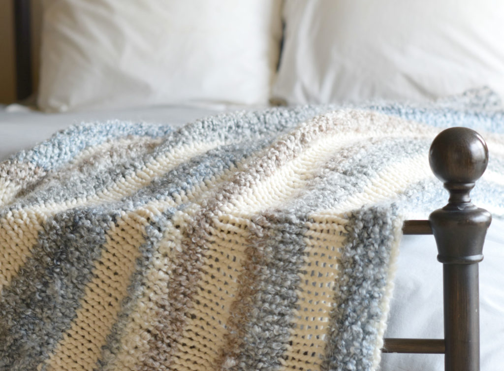 Cuddly Quick Knit Throw Blanket Pattern