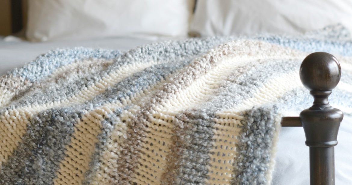 Cuddly Quick Knit Throw Blanket Pattern Mama In A Stitch New Knitting Patterns For Blankets And Throws Free