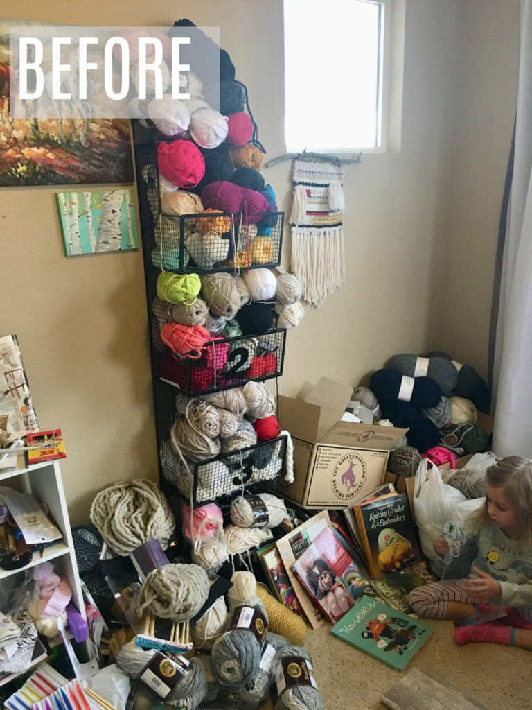 My Yarn Room Makeover How To Organize Mama In A Stitch