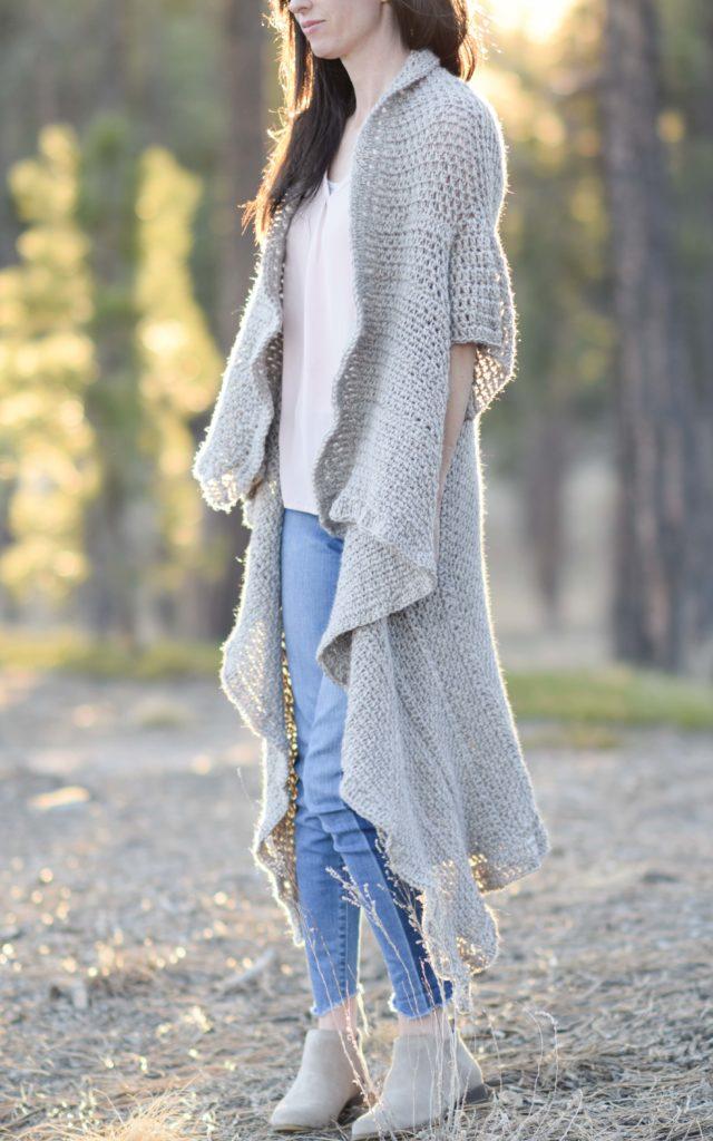 Endless Drape Kimono Duster Crochet Pattern