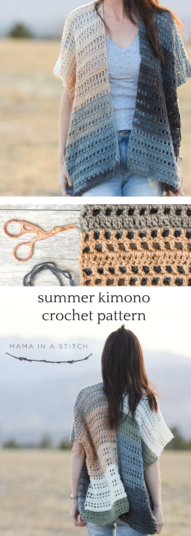 Barcelona Summer Crocheted Kimono Cardigan Pattern Mama In A Stitch