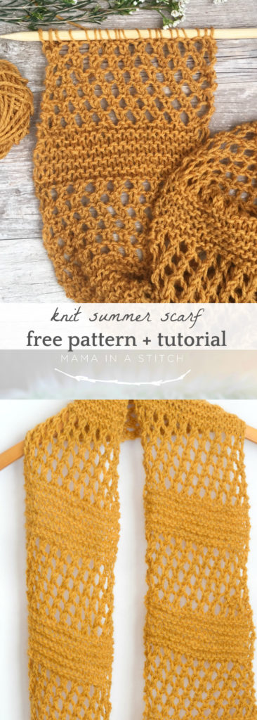 Honeycombs Summer Easy Scarf Knitting Pattern - Mama In A ...