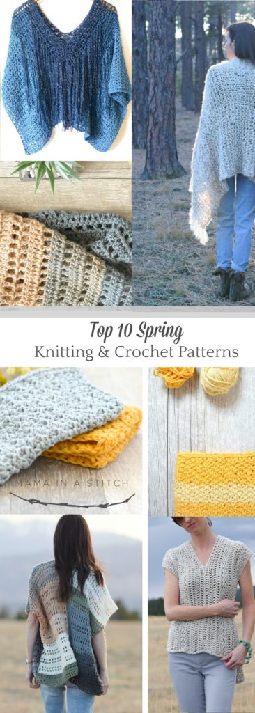 Top 10 Spring Knitting & Crochet Patterns
