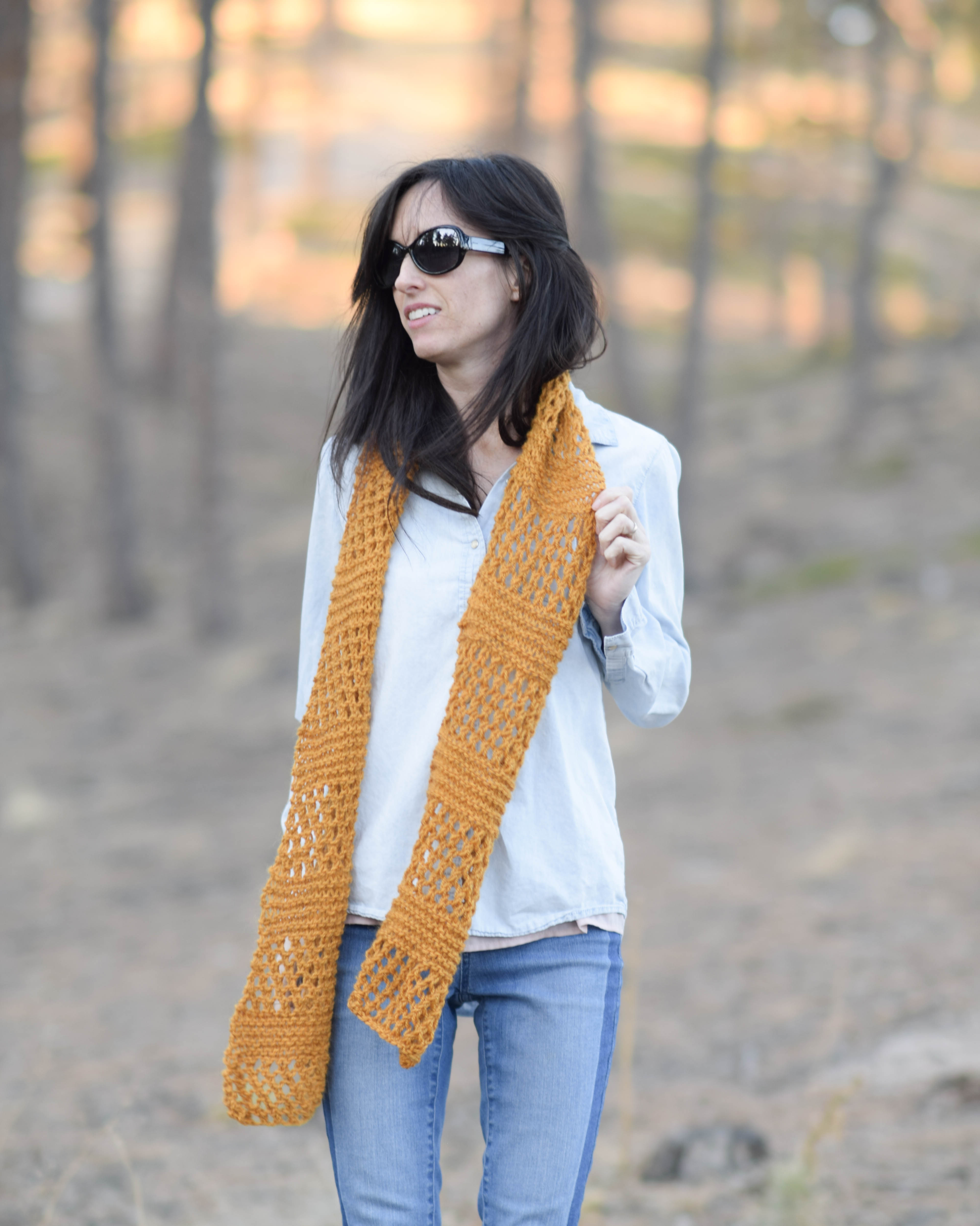 Honeycombs Summer Easy Scarf Knitting Pattern Mama In A Stitch Winter Shawl Ws 06 Save