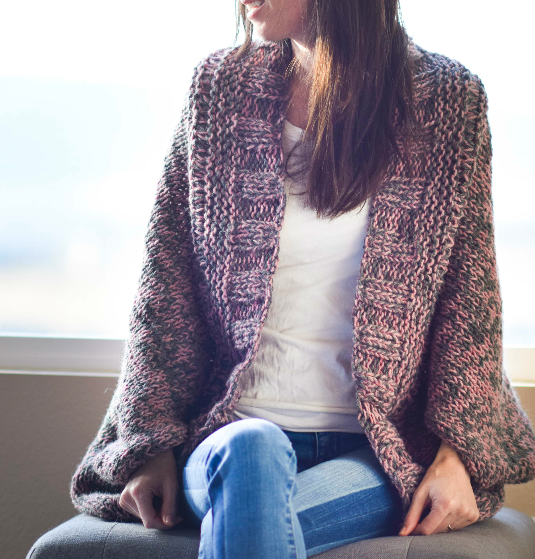 c71f0fd7c1de7 Easy Relaxed Marled Cardigan Knitting Pattern – Mama In A Stitch