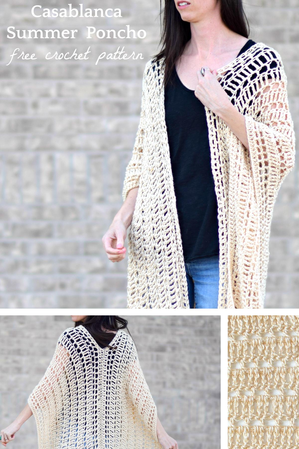 Poncho  Crocheted Poncho  Mesh Style Poncho  Beach Cover Up