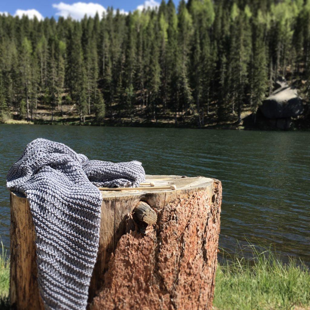Drop Stitch Cotton Easy Kimono Knitting Pattern – Mama In
