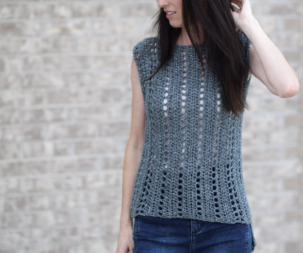"""Vintage"" Easy Crochet Sleeveless Top Pattern"