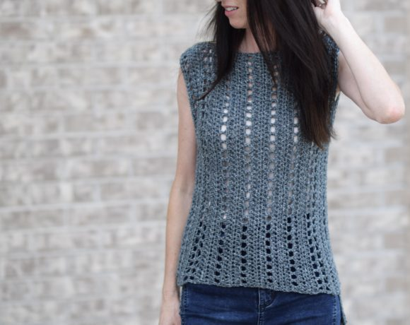 """Vintage"" Easy Crochet Sleeveless Top Pattern"