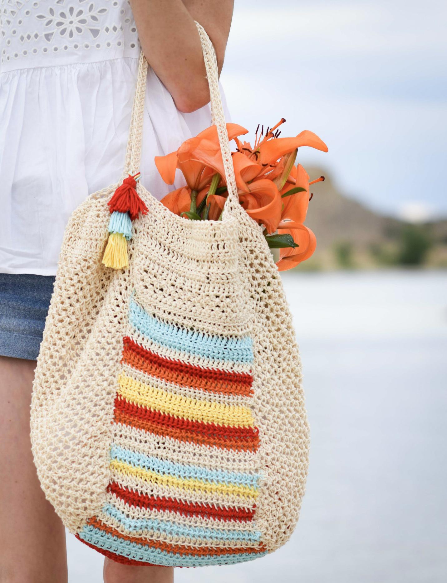 Caribe Big Crocheted Bag Pattern Mama In A Stitch