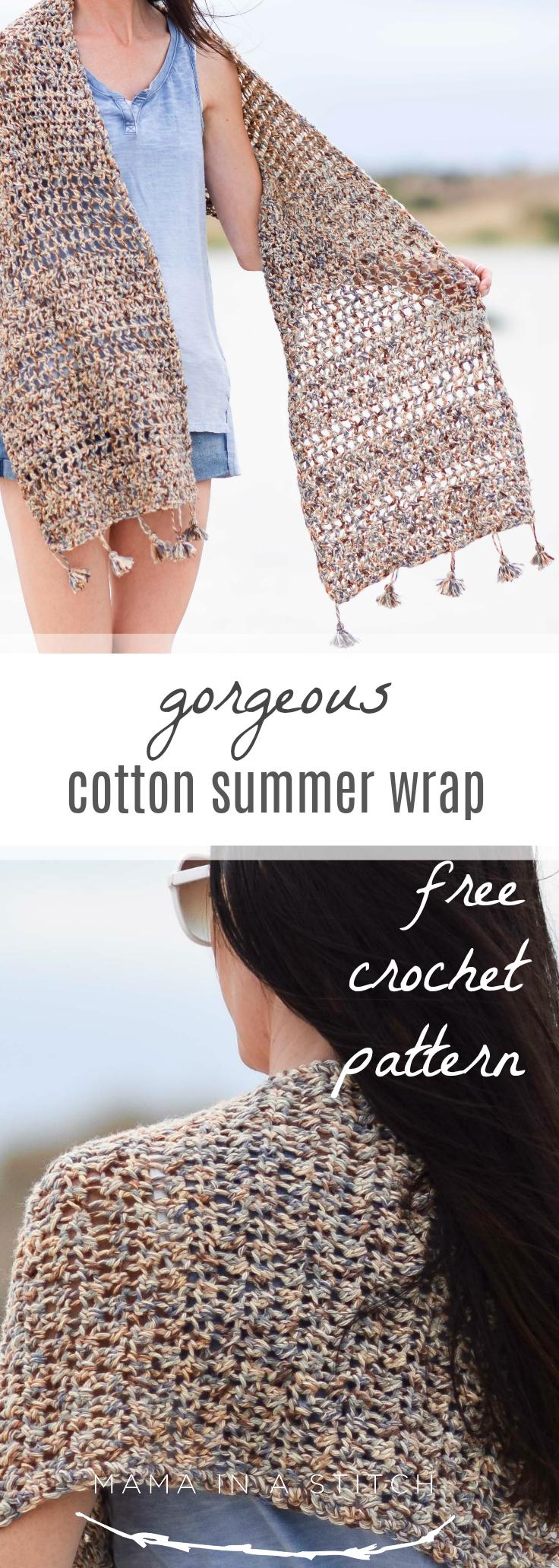 Wanders Wrap Summer Shawl Crochet Pattern Mama In A Stitch