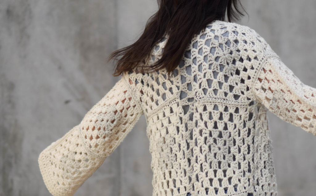 Arlo Granny Square Crocheted Cardigan Pattern