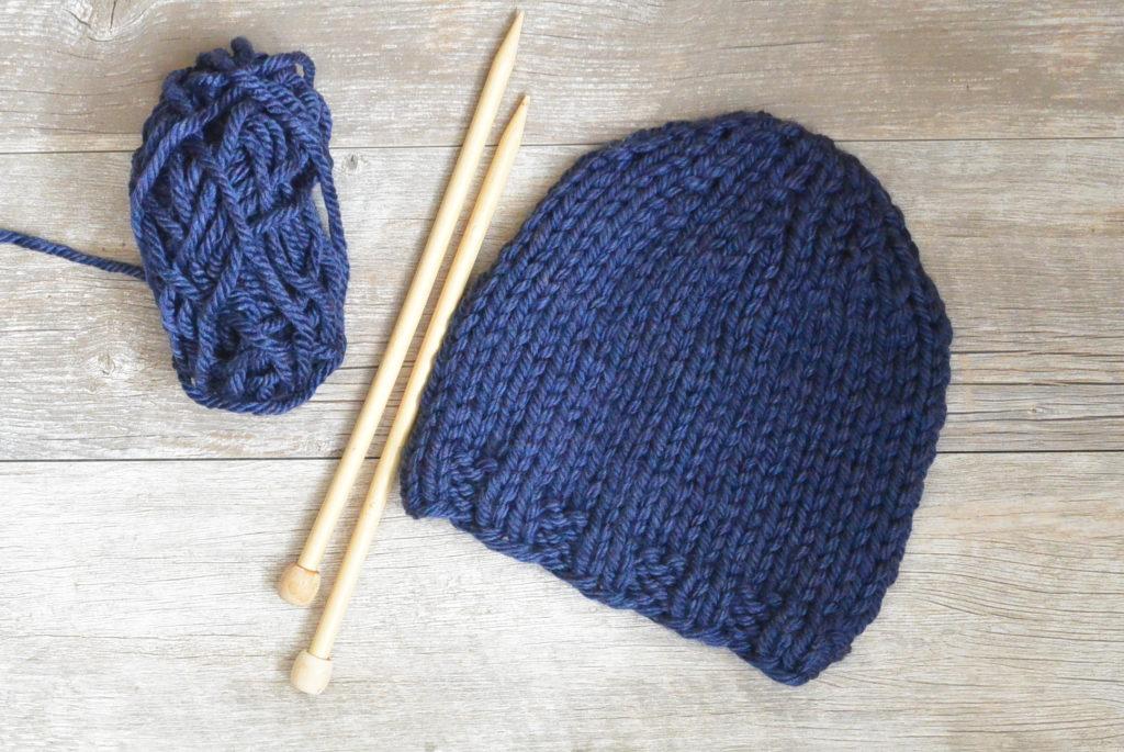 Beginner Chunky Hat Knitting Pattern