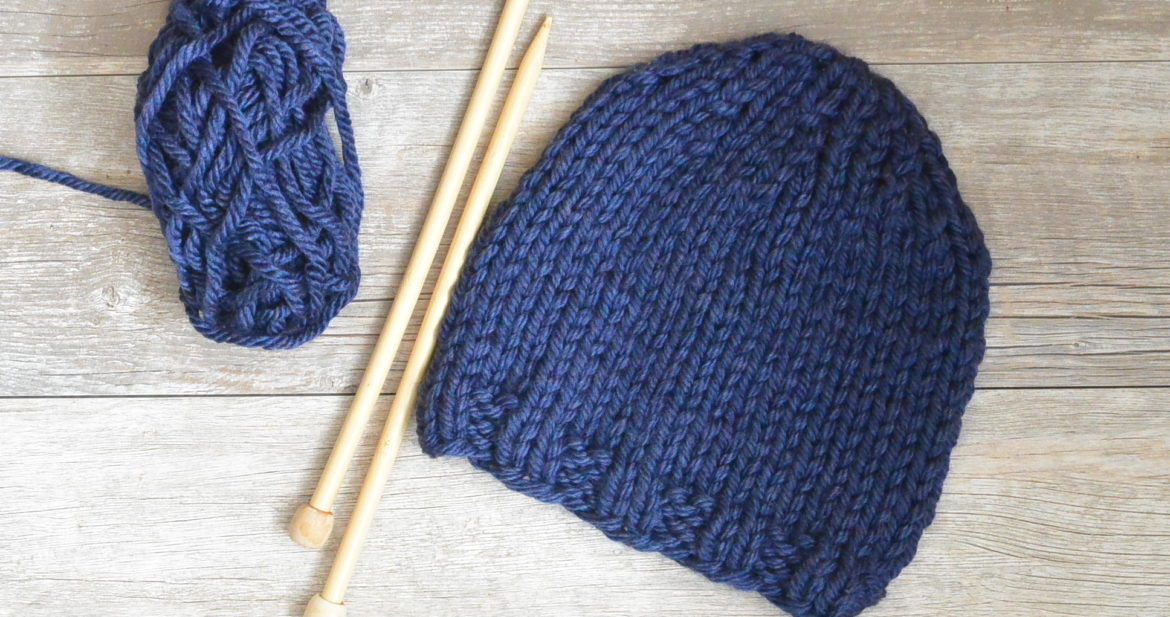 Beginner Chunky Knit Hat Pattern
