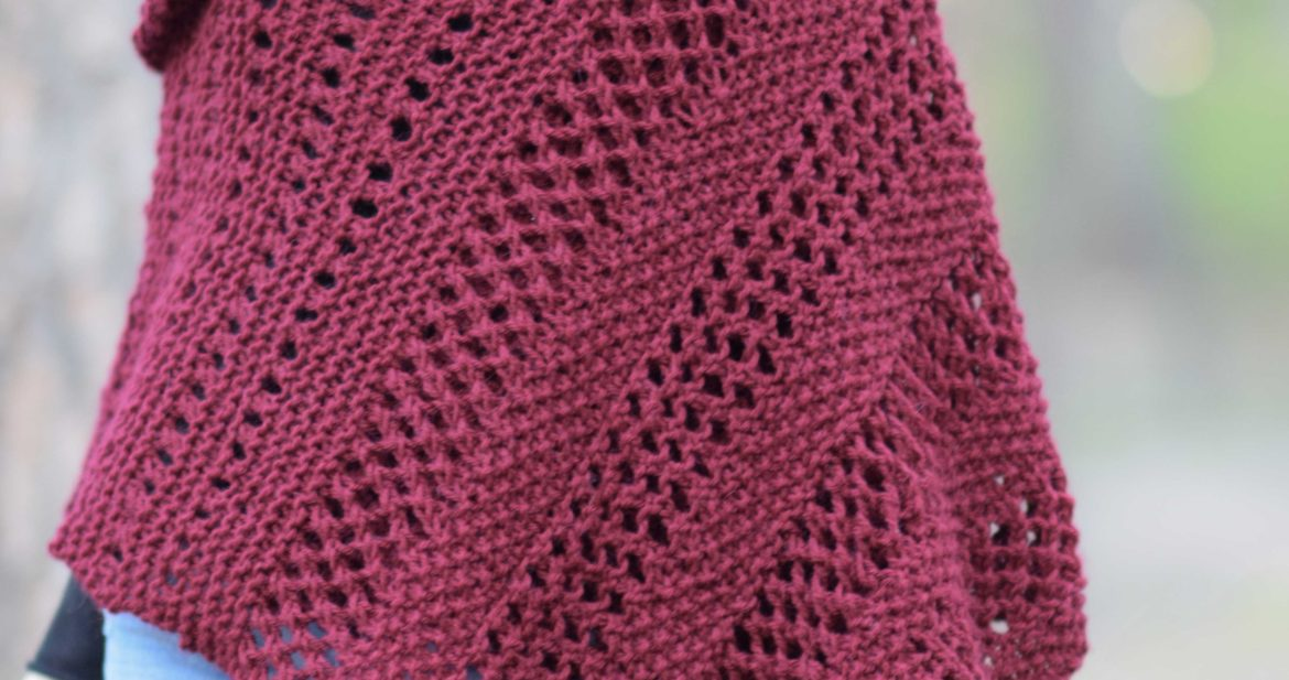 Merlot Alpaca Wrap Shawl Knitting Pattern Mama In A Stitch