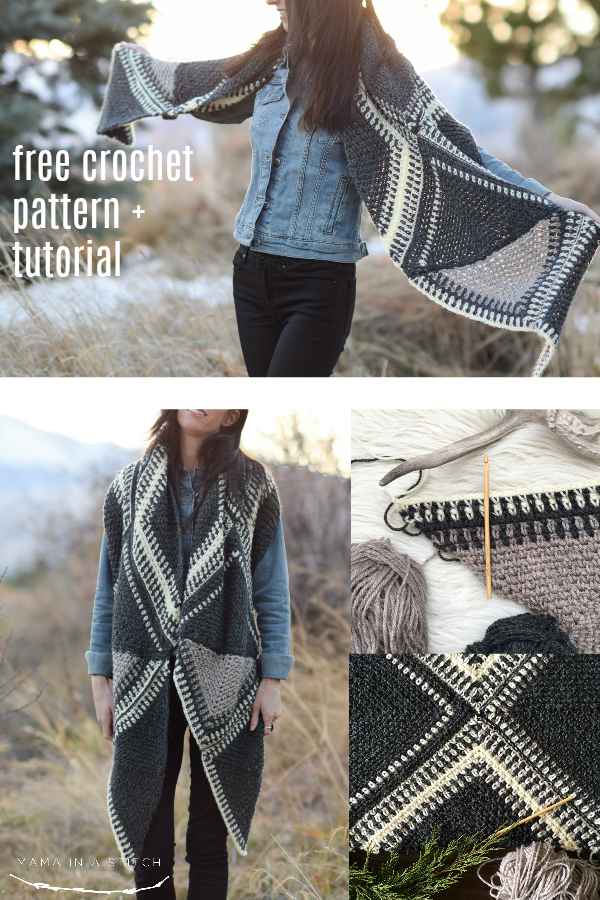 This easy, free crochet pattern is so gorgeous! There's a photo tutorial to help you make it, even if you know only simple crochet stitches.  This works as a scarf, a shawl or a wrap. #crochetpattern #diy #crafts